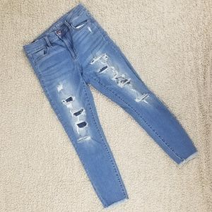 American Eagle Super Distressed Hi Rise Jegging 10